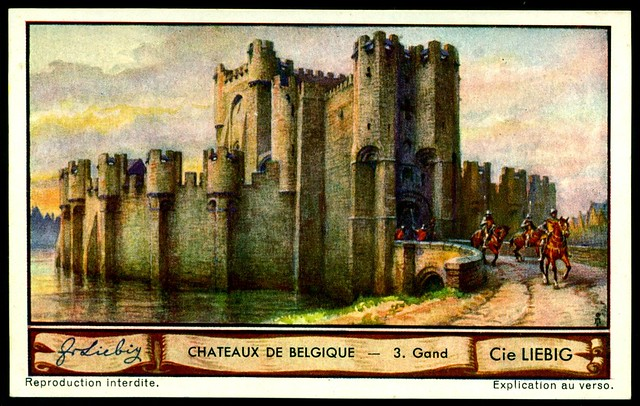Liebig Tradecard S1288 Belgian Chateaux ~ Gand