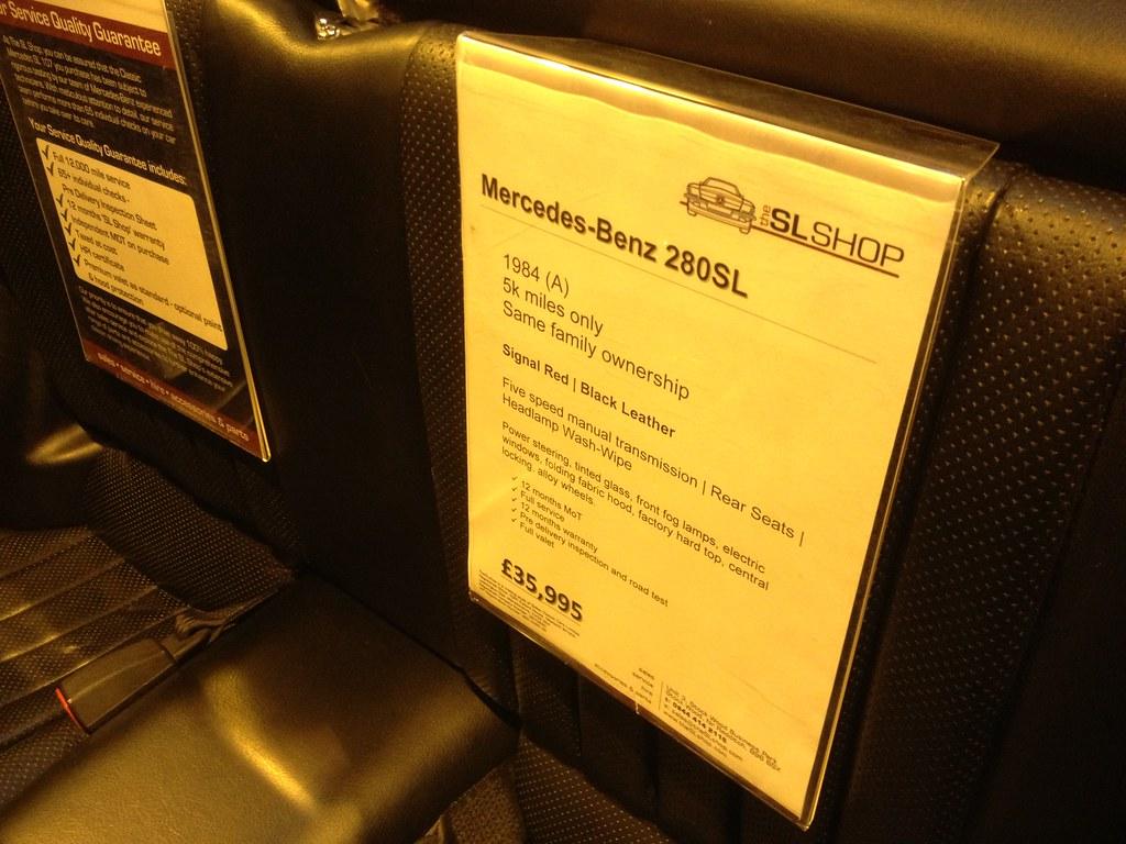 1984 Mercedes 280SL R107 (5 Speed MANUAL gearbox)