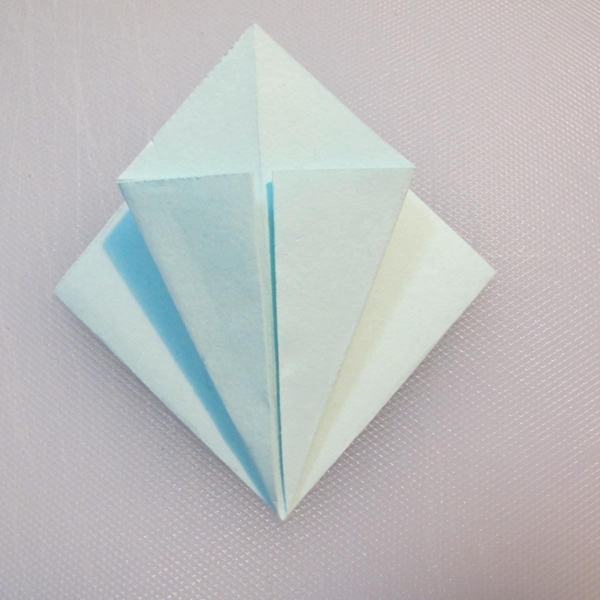 การพับกระดาษรูปดอกมอร์นิ้งกลอรี่ (Origami Morning Glory – アサガオの折り紙) 005