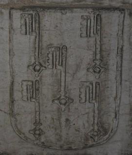Lisboa (Portugal). Catedral. Capilla de N. Sra de la Piedad. Sarcófago de D. Margarida Albernaz. Escudo
