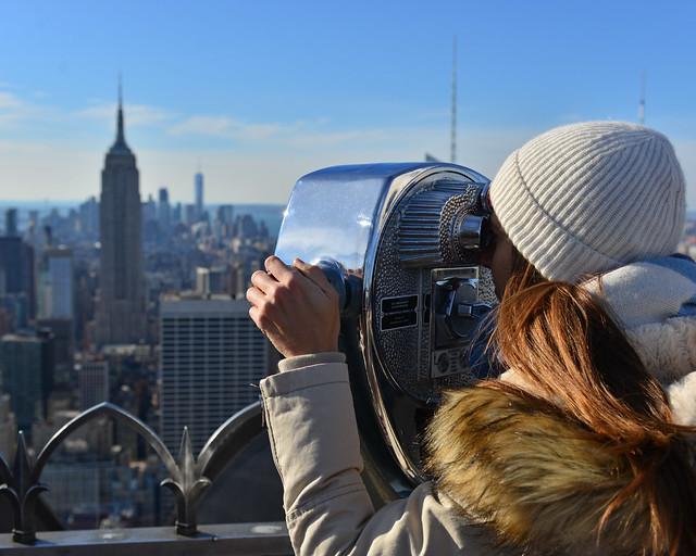 En lo alto del Top of the Rock de Nueva York