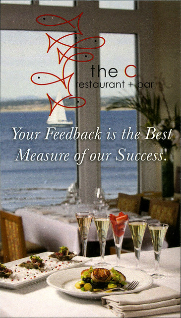 ephemera - The C Restaurant + Bar business card