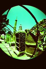 Watts Towers w/ fisheye