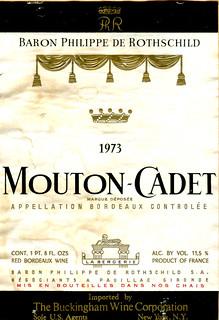 France - Mouton-Cadet 1973