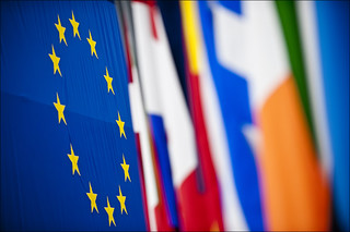 A multitude of colourful flags at the European Parliament in Strasbourg | by European Parliament