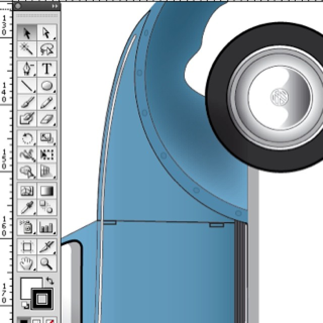 COMING SOON: Our most detailed #papermodel yet. #buildyourown #papertoy #bug #beetle #doveblue #steelwheel