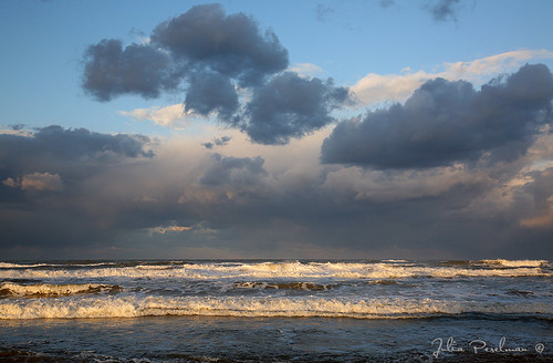 morning travel winter light sea sky beach water clouds sunrise landscape israel asia waves haifa