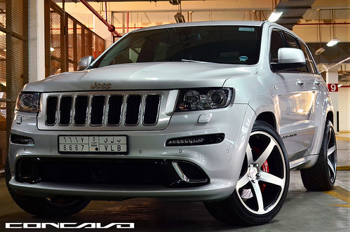 Jeep Cherokee SRT on 22x10.5 CW-5 Matte Black Machined Face | by Concavo Wheels