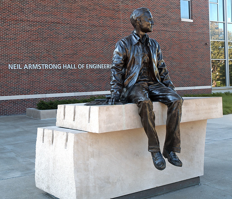 Purdue University 08-04-2013 - Neil Armstrong Statue 1