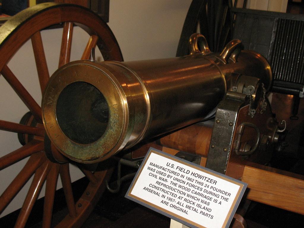 Civil War Field Howitzer | This bronze barreled 24 pounder i