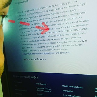 Reading disclaimers of #academic #publishers, where they claim to have no stake in validity, correctness or basically anything. This madness needs to stop | by xmacex