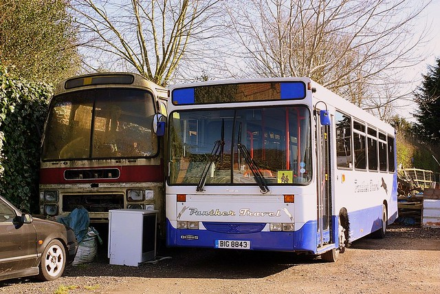 Rusting Leyland and smart Panther