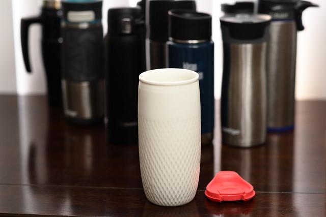 ceramic coffee mug with stainless steel mugs