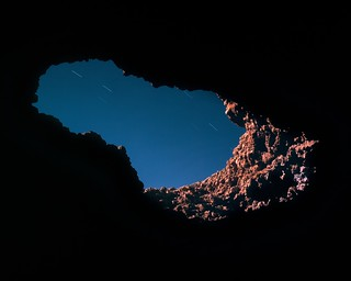 Gazing Out From Musfer Cave On A Moonlit Night | by Doha Sam
