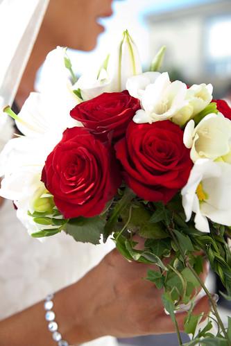 Photographie mariage bouquet