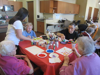 Sophia Helping Seniors Paint | by Pictures by Ann