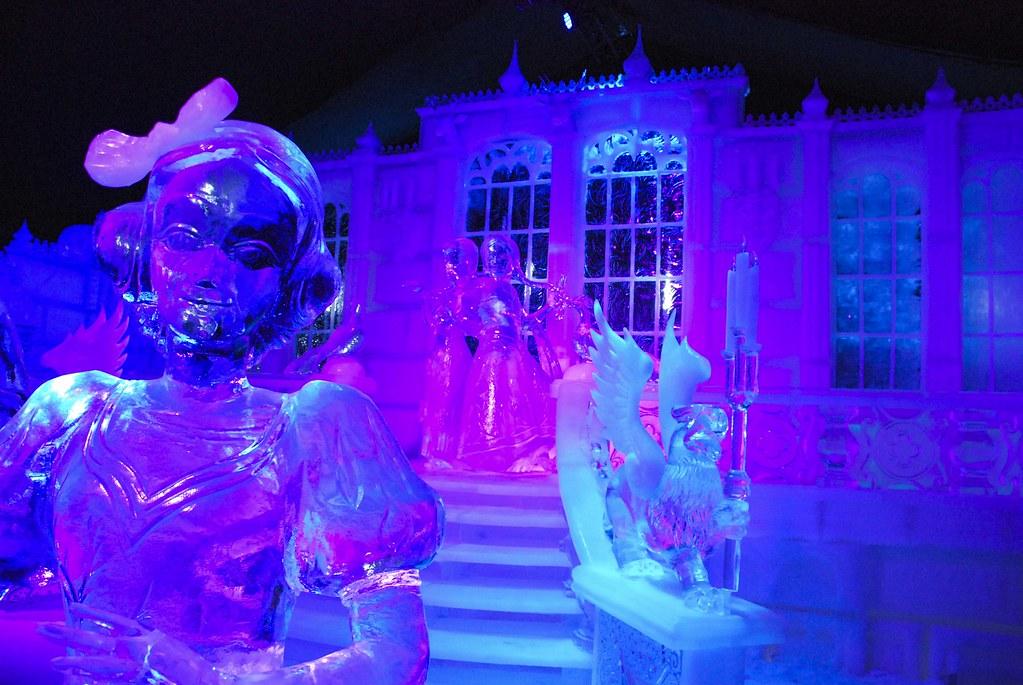 Disney ice sculptures