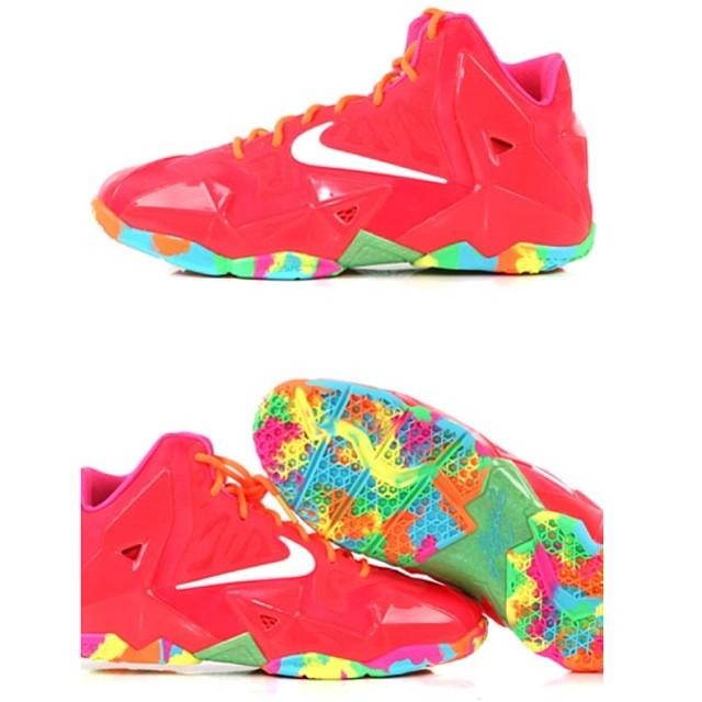 86ade87395f9a ... Nike LeBron XI GS Colors  Bright Red Multi-color