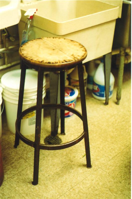 stool in kitchen