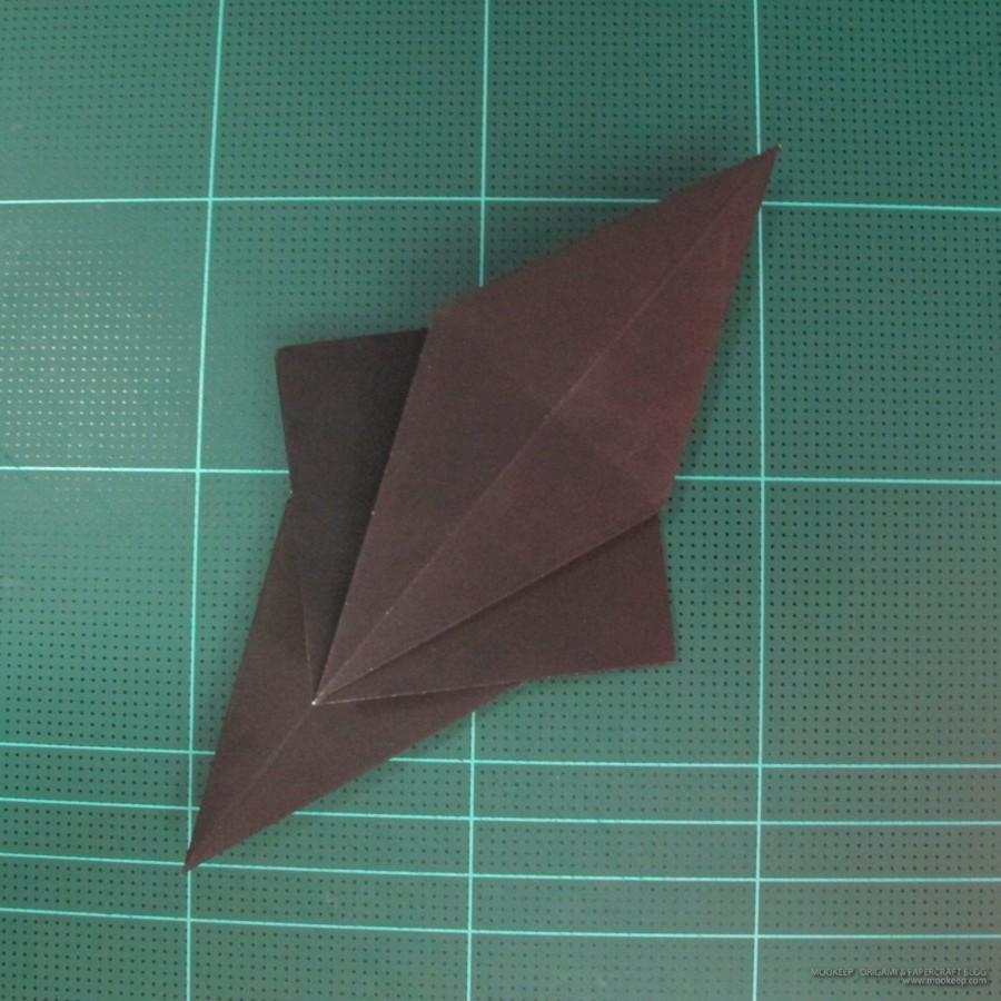 วิธีการพับกระดาษเป็นรูปจิงโจ้ (Origami Kangaroo) 001