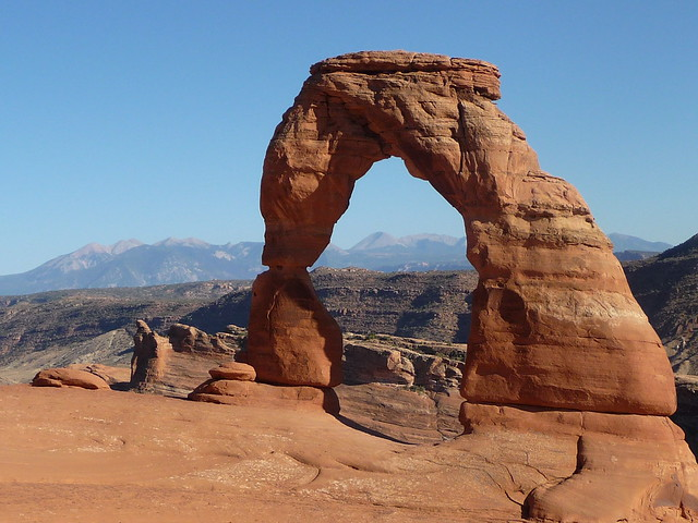 Delicate Arch at Delicate Arch Trail at  Arches NP, UT