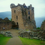 0302 Ruins of Urquhart Castle at Loch Ness