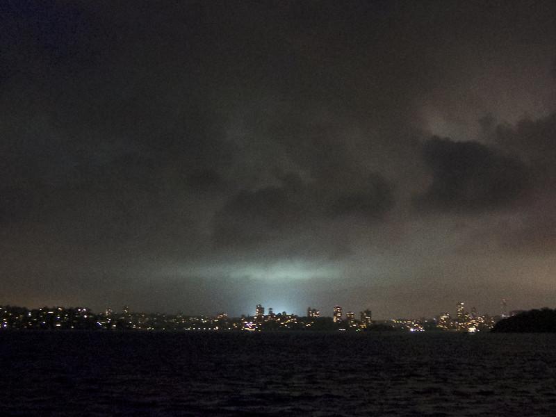 Stadium lights seen from a distance