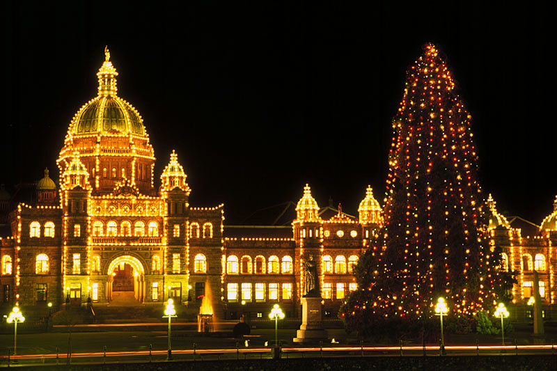 The BC Legislature in Victoria, Vancouver Island, British Columbia, Canada