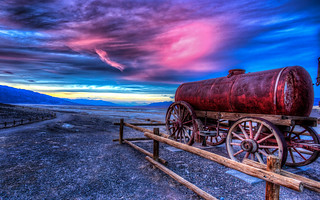 Sunset At The Harmony Borax Works, Death Valley, CA | by smithat