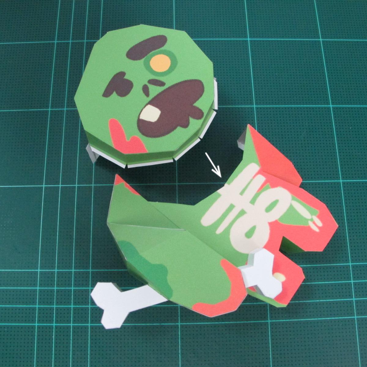 วิธีทำโมเดลกระดาษตุ้กตา คุกกี้ รัน คุกกี้รสซอมบี้ (LINE Cookie Run Zombie Cookie Papercraft Model) 023