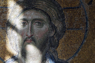 Christ's face, Deësis mosaic in sunlight, Hagia Sophia | by profzucker
