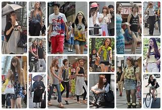 猛暑を全く感じさせない爽やかな笑顔やスタイルでおしゃれを楽しむ大阪の人々