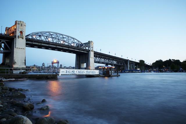 Burrard Bridge at twilight time