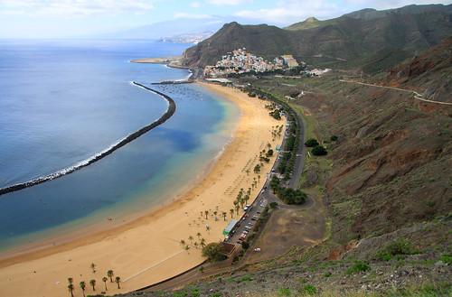 The famous Playa de las Teresitas