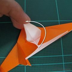 วิธีการพับกระดาษเป็นรูปไดโนเสาร์ (Origami Dinosaur) 009