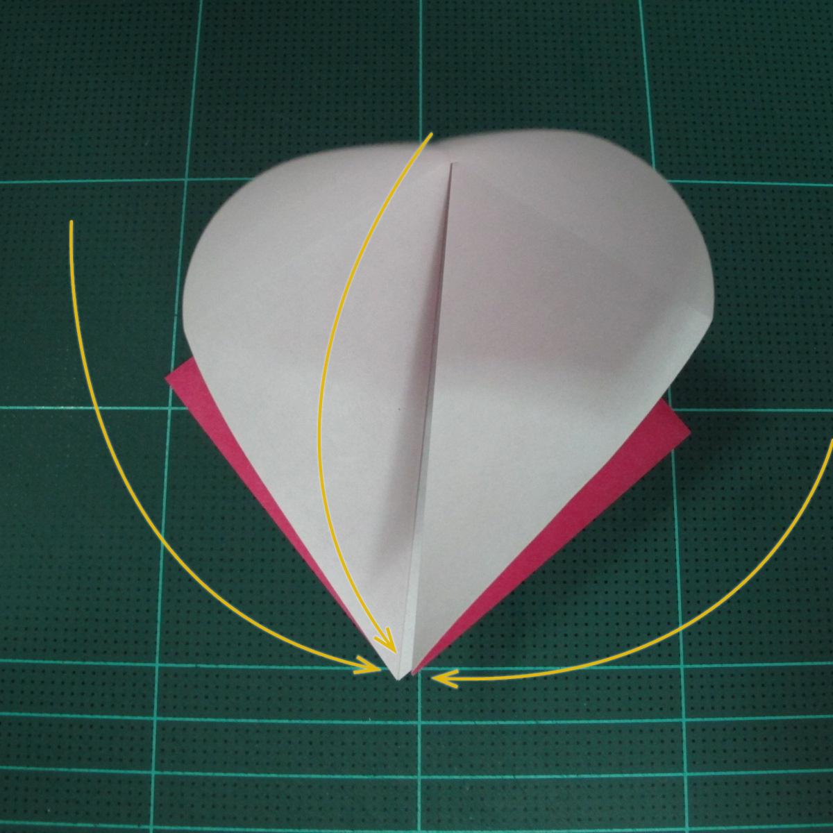 การพับฐานสี่เหลี่ยม (Origami Preliminary Base) 003
