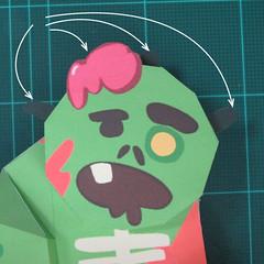 วิธีทำโมเดลกระดาษตุ้กตา คุกกี้ รัน คุกกี้รสซอมบี้ (LINE Cookie Run Zombie Cookie Papercraft Model) 030