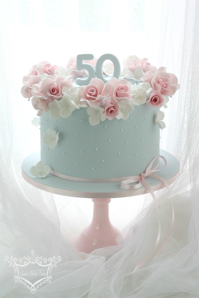 Groovy 50Th Birthday Cake 50Th Birthday Cake Order Rose And Hydr Flickr Funny Birthday Cards Online Barepcheapnameinfo