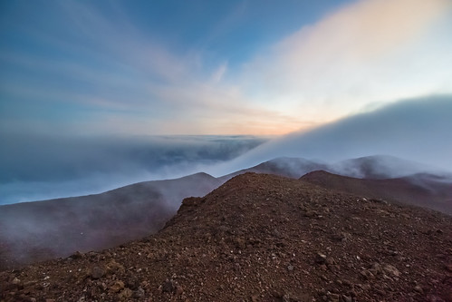 sunset clouds hawaii maui haleakala cindercones