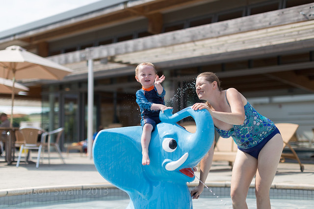Family fun by the pool at the West Bay Club - IMG_4709