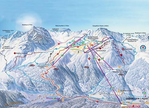 Gargellen - mapa sjezdovek