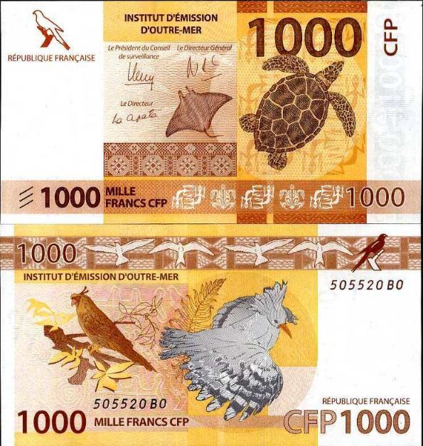 1000 Frankov Francúzska Polynézia 2013 (2014)