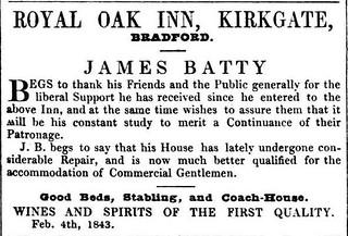 4th February 1843 - Royal Oak Inn, Kirkgate, Bradford refurbished   by Bradford Timeline