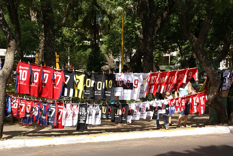 Anybody Want a Shirt Street Seller Asuncion