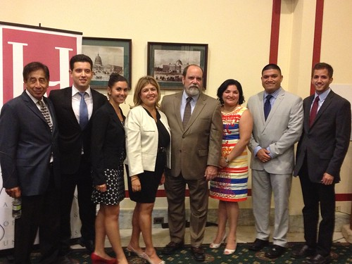 AMS Administrator Anne Alonzo with students at the 2013 HACU National Internship Program summer farewell event. Photo courtesy of Karen Comfort, AMS Special Assistant to the Administrator