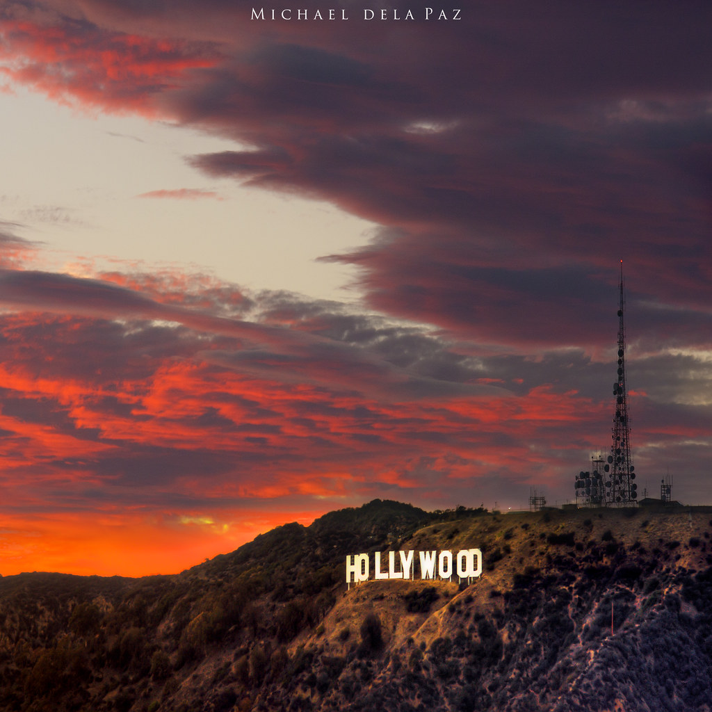 Hollywood Sunset | Sunset by the Hollywood Sign as viewed ...