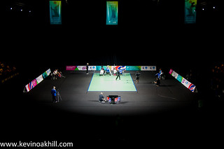 The Boccia court, National Paralympic Day, the Copper Box, Olympic Park | by www.kevinoakhill.com