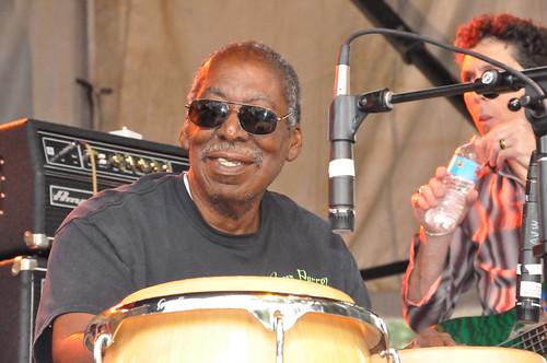 Alfred Uganda Roberts during John Mooney's set at Crescent City Blues & BBQ Fest 2013.  Photo by Kichea S Burt.