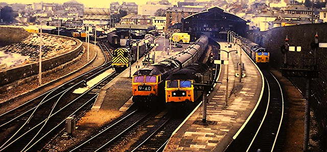 penzance station november 1978