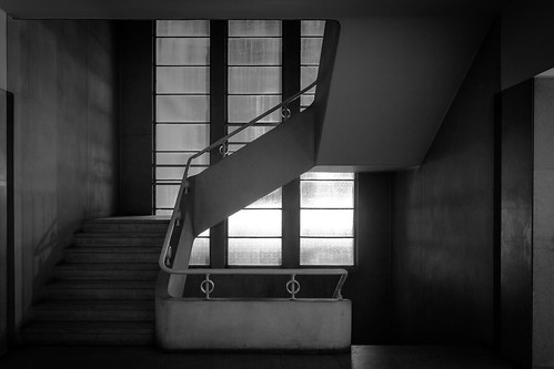 Stairs with glass wall | by p_v a l d i v i e s o